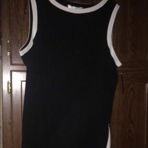 Sleeveless dress. NWT. Black.